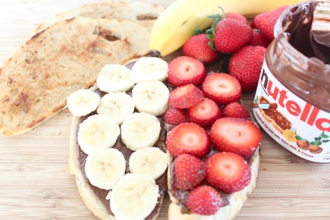 Strawberry + Banana + Nutella Sandwich