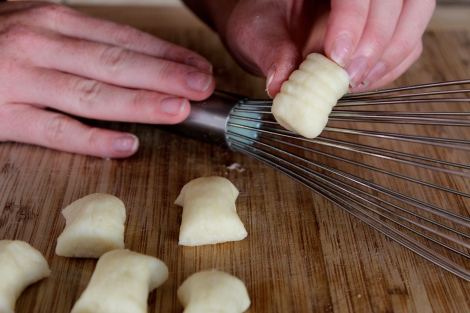 Homemade Gnocchi, Gnocchi Board Whisk