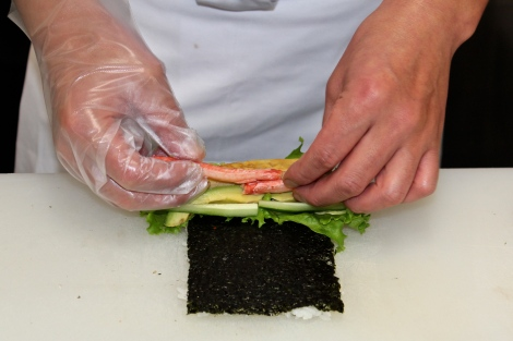 How To Make Sushi: Japanese California Roll