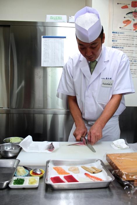 How To Make Sushi: Removing Mackerel Skin