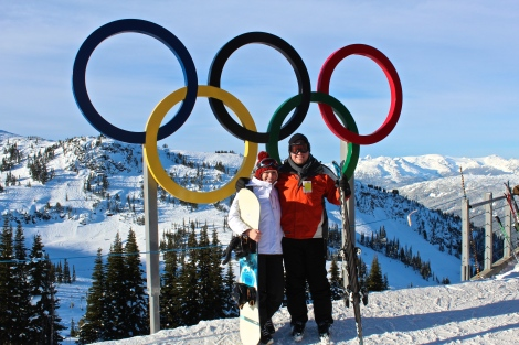 Snowboarding Whistler, Canada