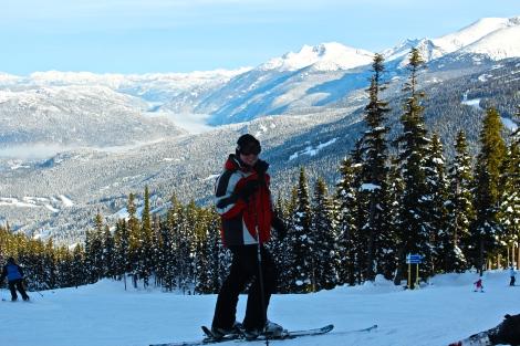 Skiing Whistler, Canada