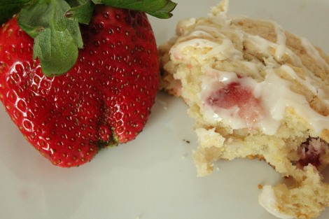 Take A Bite Of Strawberry Lemonade Scones